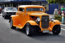 Hotrods at Waihi's Warm Up Party for the Beach Hop
