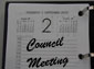 Council meeting dates