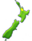 New Zealand showing the Hauraki District