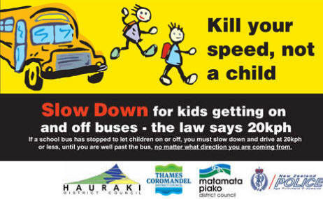 20kph past a school bus