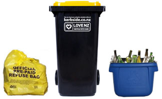 kerbside collections - bag, bin, crate